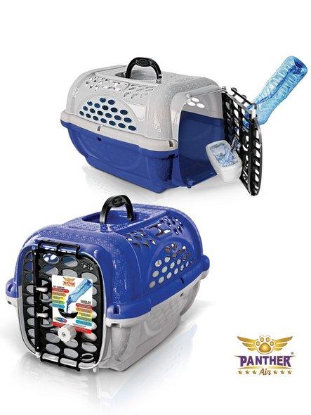 Caixa Transporte Cães Gatos Panther n. 1 Azul Plast Pet
