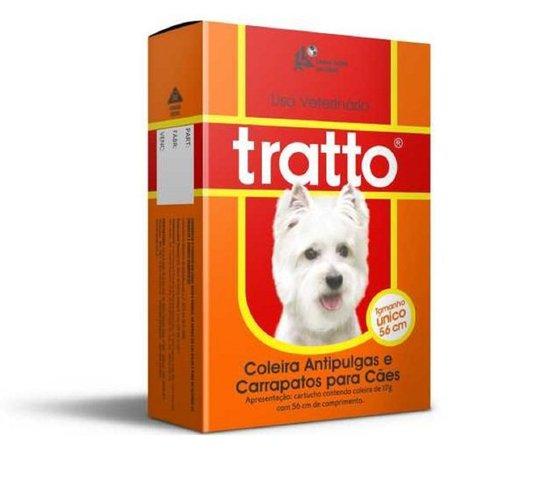 Coleira Antipulgas e Carrapatos Cães DDVP Tratto 17 g