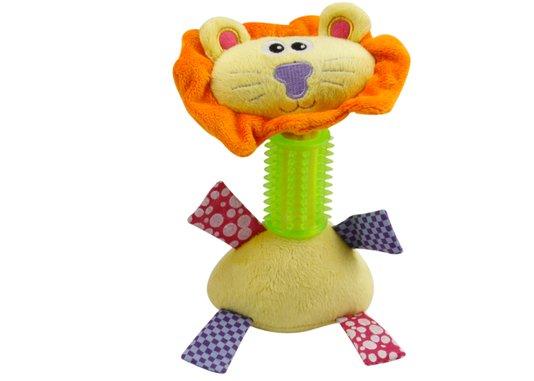 Brinquedo Cães Mordedor Pelúcia Leao c Apito 20 cm