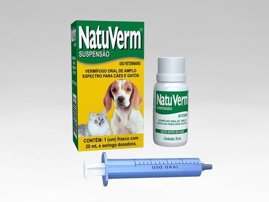 Natu Verm Suspensão Vermífugo Oral Líquido Cães Gatos 20 ml