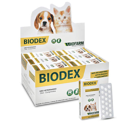 Biodex Anti-Inflamatório Antialérgico Cães Gatos 20 comp.