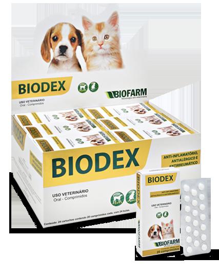 Biodex Anti-Inflamatório Antialérgico Cães Gatos 20 comp.