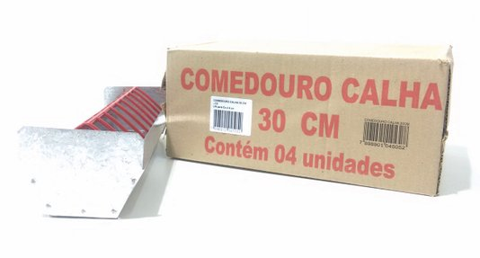 Comedouro Frangos, pintos, codornas Calha 30 cm-Cx 4 un.