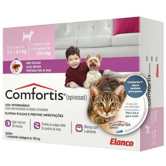 Comfortis 140 mg Elanco Comprimido Anti-Pulgas para Cães e Gatos