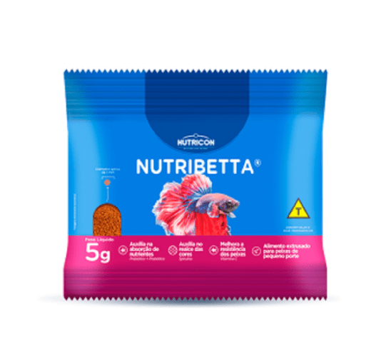 Nutribetta Alimento Microextrusado p/ Betta - Sachê 5 g