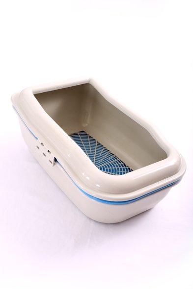 Caixa Areia Bandeja Gato Higiênica Sanitário Peneira Azul