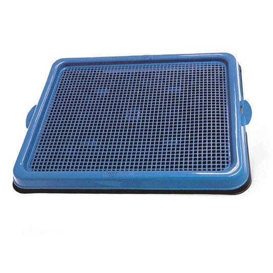 Sanitário Banheiro Cães Pratic Pipi Pop Azul Plast Pet