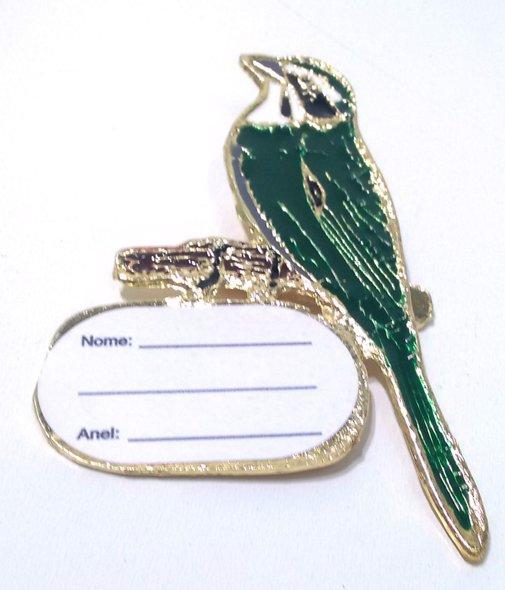 Placa de Metal para Identificação de Pássaros - Trinca Ferro