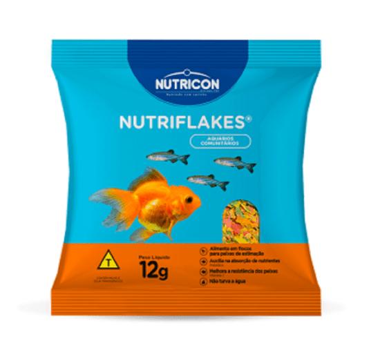 Nutriflakes Alimento Completo em Flocos p/ Peixes - Sachê 12 g