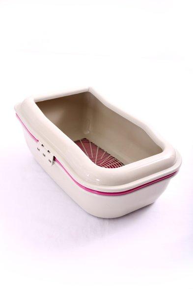 Bandeja Gato Higiênica Sanitário Banheiro Peneira Rosa