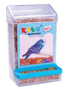Comedouro Pássaros/Alimentador Contínuo Kito Plast Pet
