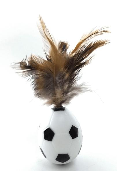 Brinquedo Gatos Bola João Bobo Penas 5,5 cm C8102