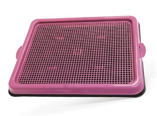 Sanitário Banheiro Cães Pratic Pipi Pop Rosa Plast Pet