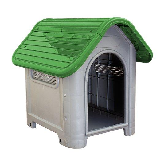 Cama Toca Casa Plástica Cães Mec Dog N 3 Verde