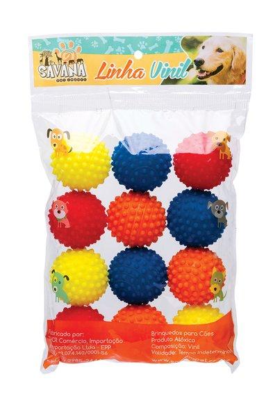 Brinquedo Cães Bola Cravinho 6 cm 12 unidades