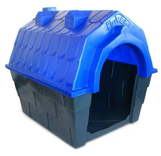 Cama Toca Casa Plástica Cães N 1 Azul Plast Kão