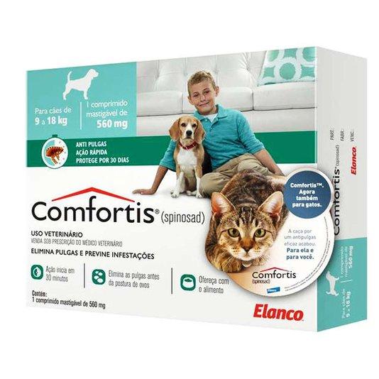 Comfortis 560 mg Elanco Comprimido Anti-Pulgas para Cães e Gatos