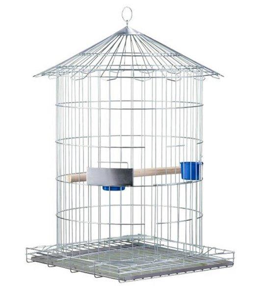 Gaiola Pássaro Redonda Papagaio Maior Zincado 16A Ver frete