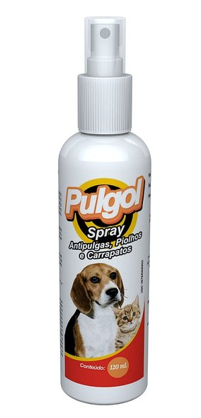 Pulgol Spray antipulgas,Piolhos Carrapatos Cães Gatos 120ml