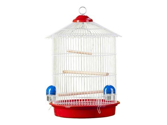 Gaiola Pássaros Redonda Chinesa Epoxi Londrina - Ref 129