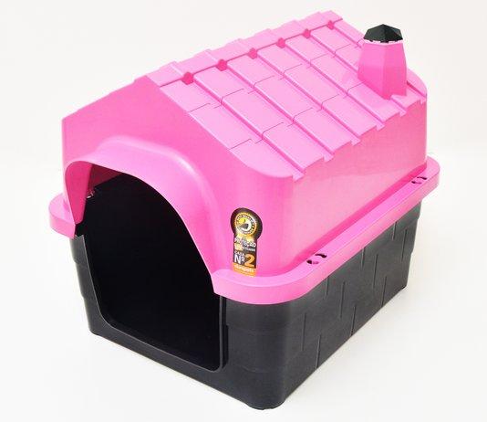 Cama Toca Casa Plástica Cães Durapets n. 2 Rosa