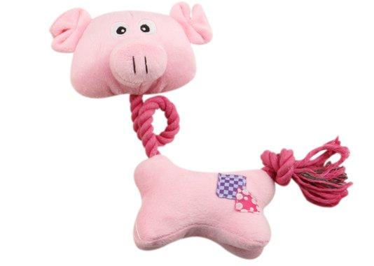 Brinquedo Cães Mordedor Pelúcia Porquinho Sonoro DOG 120