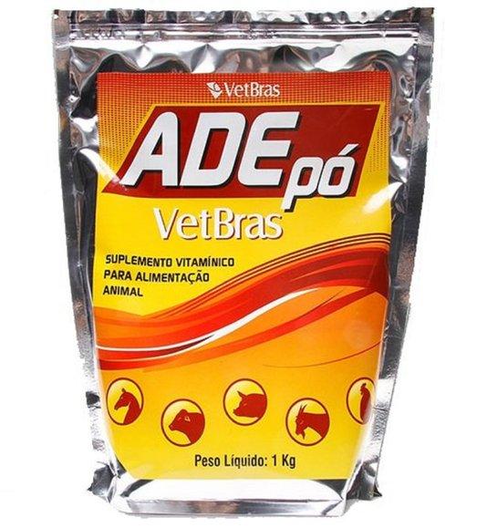 ADE Pó Vetbras Suplemento Vitamínico Bovinos Equinos 1 kg