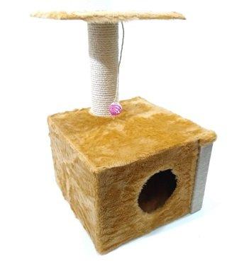 Arranhador Brinquedo Gatos Quadrado 3 Pisos