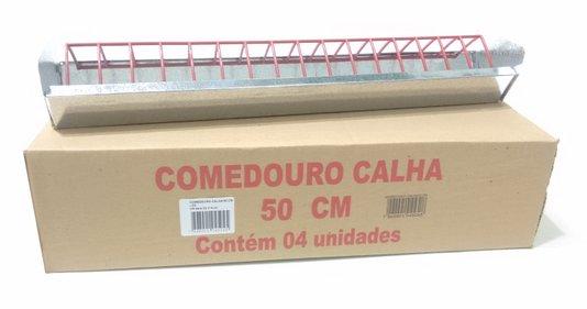 Comedouro Frangos, pintos, codornas Calha 50 cm-Cx 4 un.