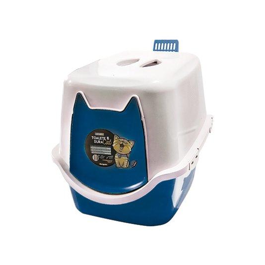 Banheiro Fechado Sanitário WC Toalete Gatos DuraCat  Azul