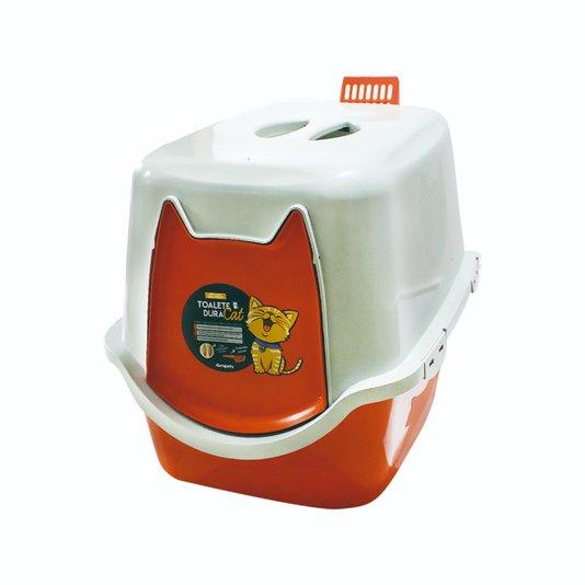 Banheiro Fechado Sanitário WC Toalete Gatos DuraCat Laranja