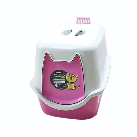 Banheiro Fechado Sanitário WC Toalete Gatos DuraCat Rosa