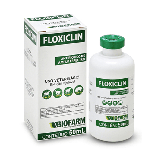 Floxiclin Antibiótico Amplo Espectro Injetável BioFarm - 50 ml