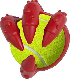 Brinquedo Cães Borracha Dino T-Rex Bolinha Tênis
