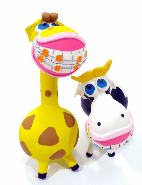 Brinquedo Cães Mordedor Apito Sorriso Kit 2 unidades