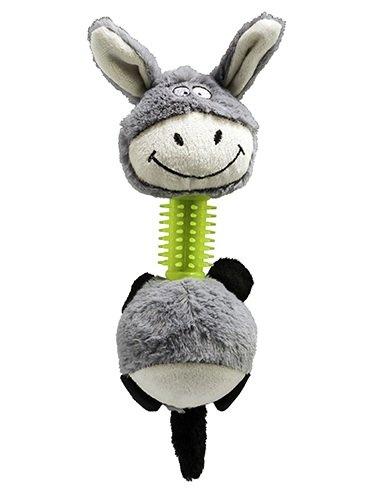 Brinquedo Cães Mordedor Pelúcia Burrinho com Som 32 cm