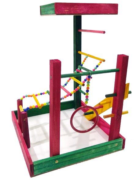 Brinquedo Playground Poleiro Parque Calopsita Papagaio Maritaca 32