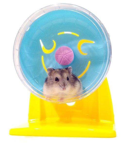 Brinquedo Roda Plástica com Suporte Exercício Hamster 10 cm