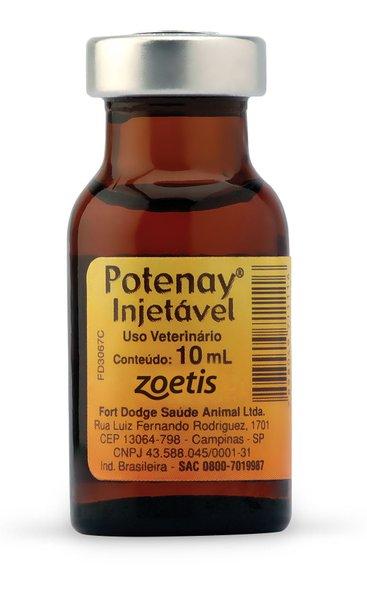 Potenay Injetável Complexo Vitamínico Uso Veterinário 10 ml
