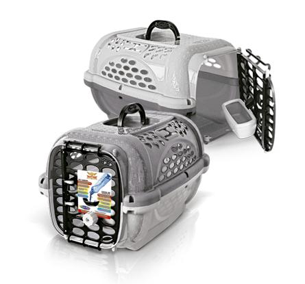 Caixa Transporte Cães Gatos Panther n. 2 Taupe Plast Pet