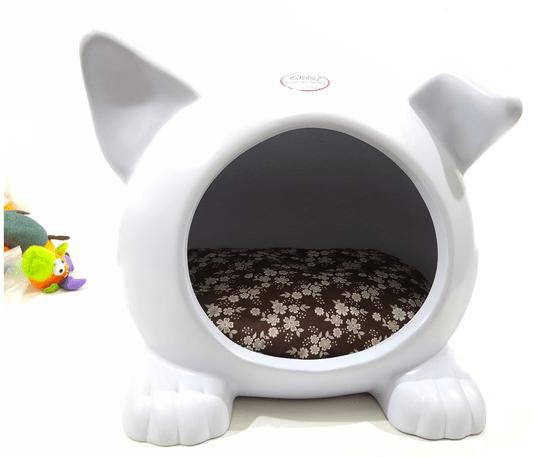 Cama Toca Casa Cães Ideal Dog Pequena Branco