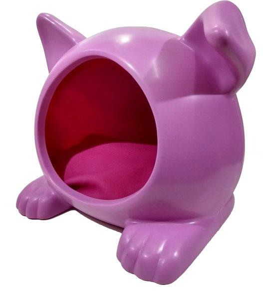 Cama Toca Casa Cães Ideal Dog Pequena Rosa