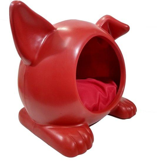 Cama Toca Casa Cães Ideal Dog Pequena Vermelha