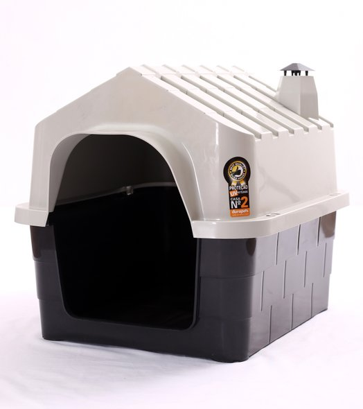 Cama Toca Casa Plástica Cães Durapets N 1 Bege