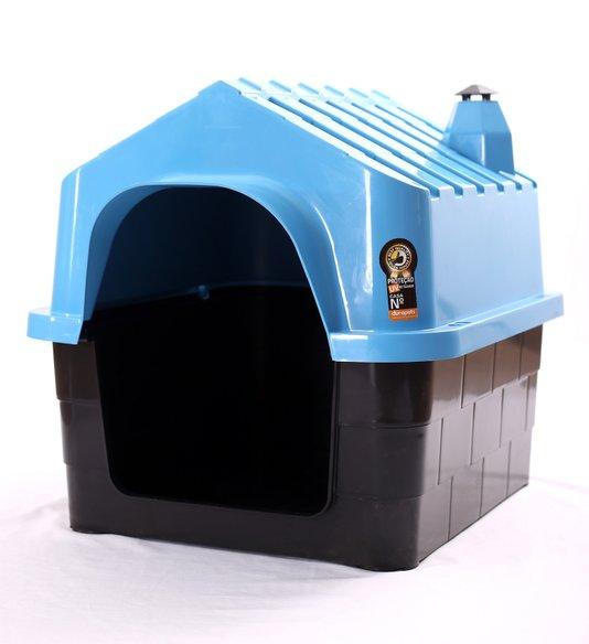 Cama Toca Casa Plástica Cães Durapets N1 Azul