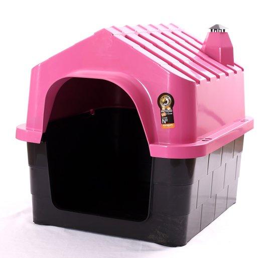 Cama Toca Casa Plástica Cães Durapets N1Rosa
