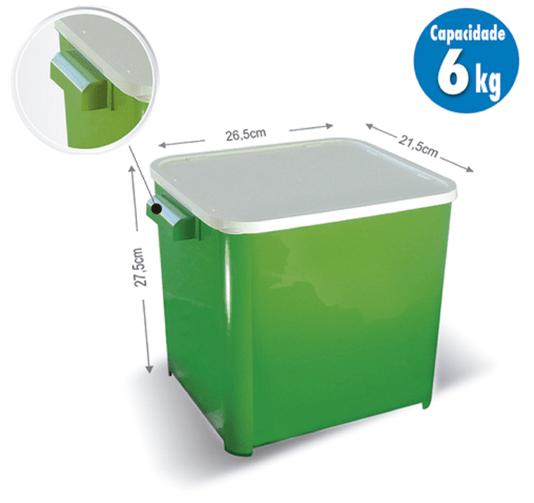 Canister Container Armazenador Porta Ração 6 kg