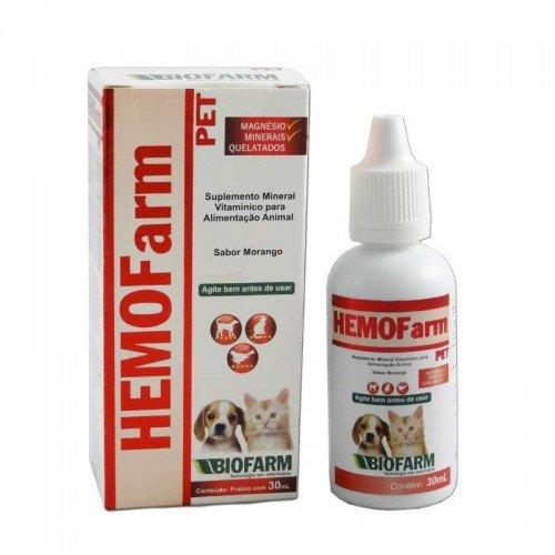HemoFarm Pet Suplemento Vitamínico e Mineral Cães e Gatos - 30 ml