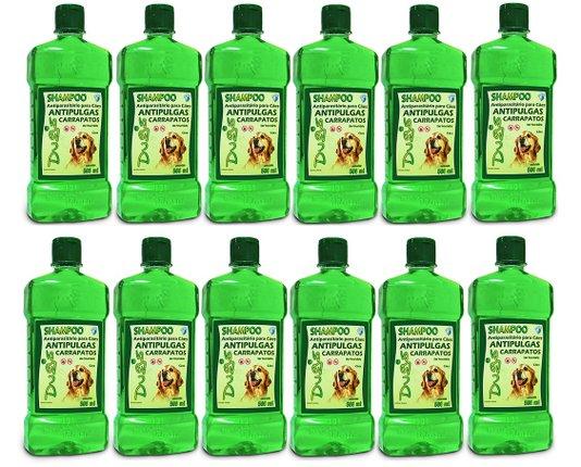 Shampoo Dug's Pulgas e Carrapatos Cães 500 ml - 12 un.