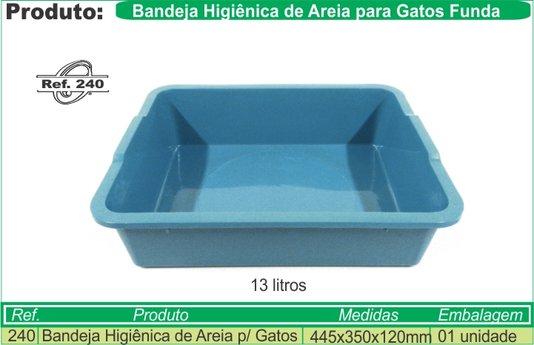 Bandeja Higiênica Plástica Gato Banheiro Coelho G Funda Alta